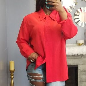 90s top blouse office casual vintage size L